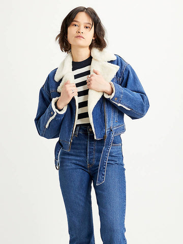 LEVI'S COCOON BOMBER TRUCKER DONNA