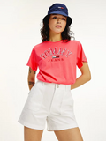 TOMMY JEANS T-SHIRT RELAXED FIT IN COTONE BIOLOGICO Diva Pink