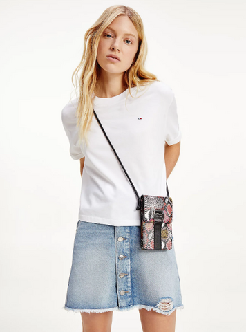 TOMMY JEANS T-SHIRT CROP IN COTONE BIOLOGICO CON LOGO White