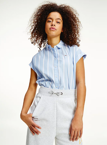 TOMMY JEANS CAMICIA RELAXED FIT CON MIX DI RIGHE