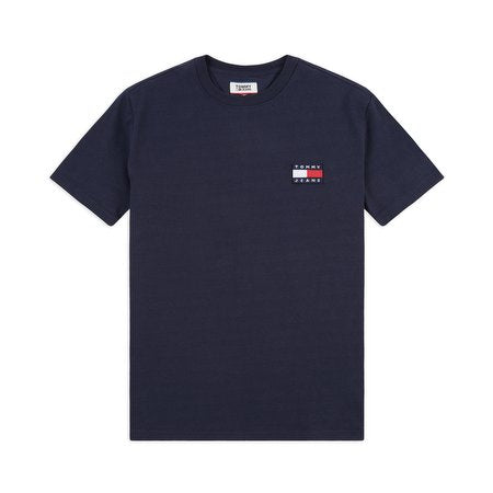 TOMMY JEANS BADGE TEE NAVY