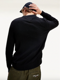 TOMMY JEANS PULLOVER IN COTONE MISTO LANA Black