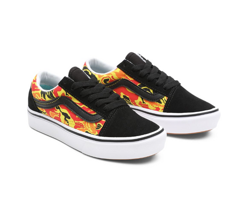VANS OLD SKOOL FLAME CAMO COMFYCUSH JUNIOR