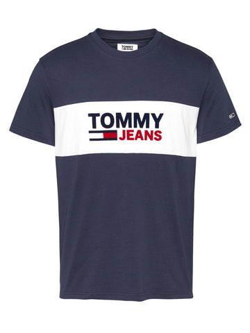 T-SHIRT IN COTONE BIOLOGICO COLOR BLOCK TOMMY JEANS
