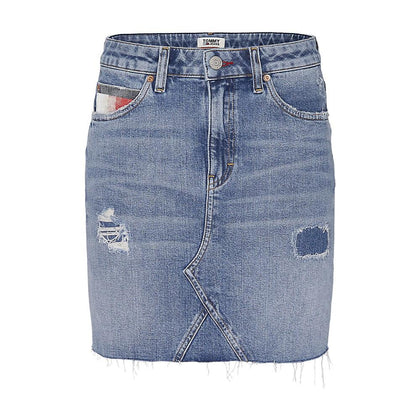 TOMMY JEANS GONNA Short Denim Skirt Akr