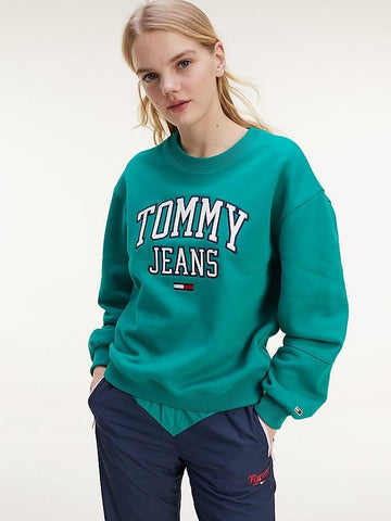 TOMMY JEANS FELPA RELAXED FIT IN STILE COLLEGE