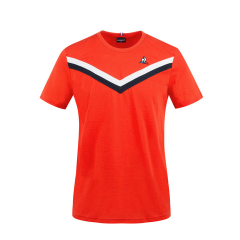 LE COQ SPORTIF T-SHIRT TRICOLORE Orange