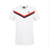 LE COQ SPORTIF T-SHIRT TRICOLORE W/Sky Capitain/Orange