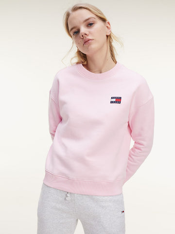 TOMMY JEANS FELPA IN COTONE BIOLOGICO CON DISTINTIVO TOMMY