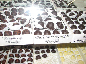 Kruffles, our Kobasic truffles, Caramels and Clusters