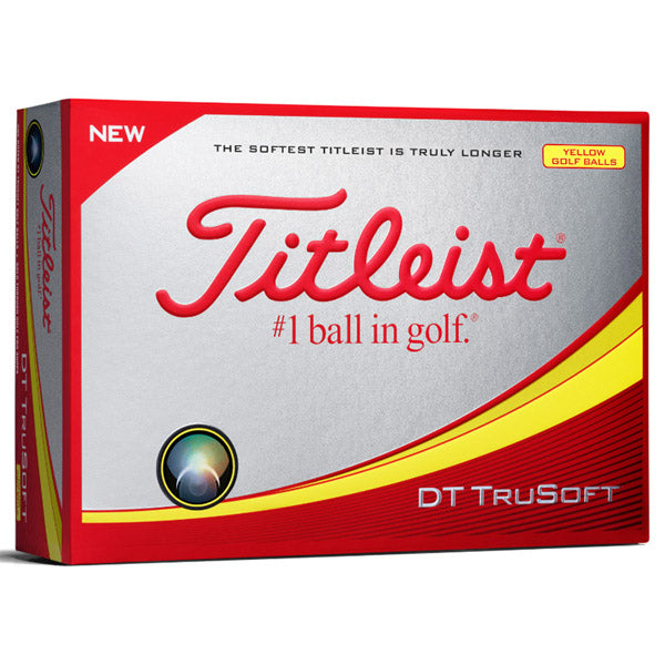 Titleist DT Trusoft Yellow Golf Balls Front