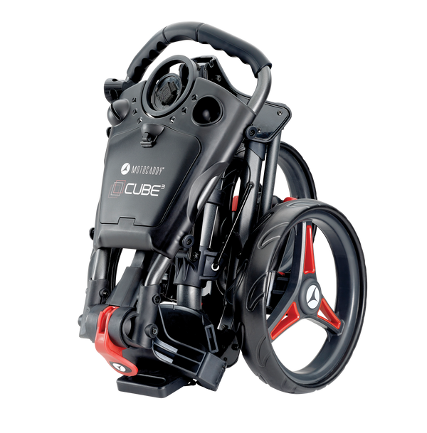 Motocaddy Cube Push Golf Trolley - Graphite/Red