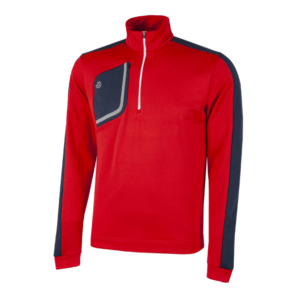Galvin Green Dwight 1/2 Zip Insula Golf Sweater - Red/Navy/White