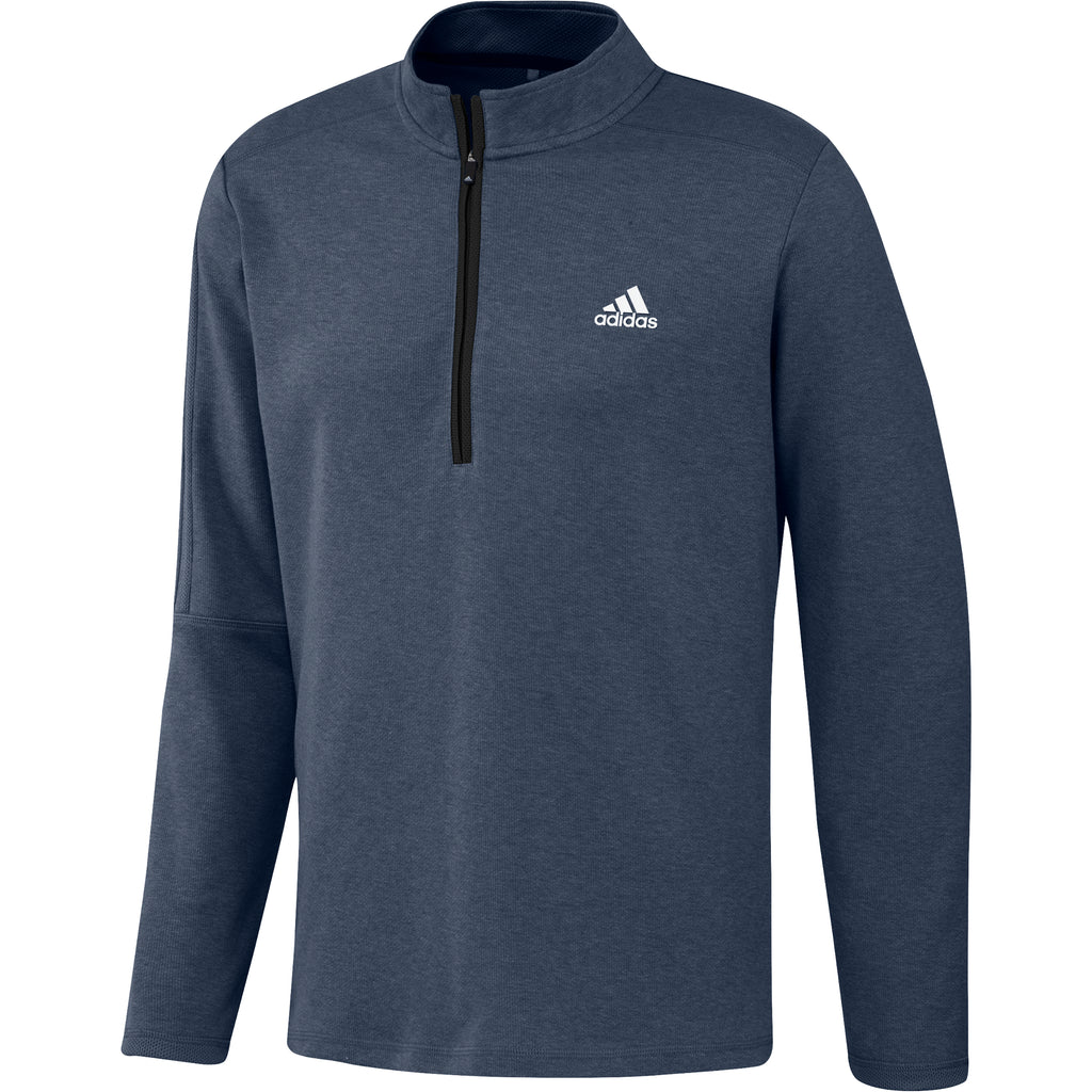 adidas 3 Stripe Mens 1/4 Zip Golf top - Navy