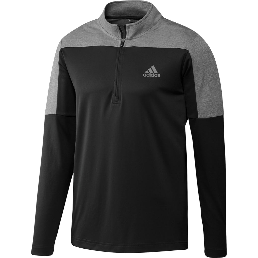 Adidas Liteweight Mens 1/4 Zip Golf Top - Black