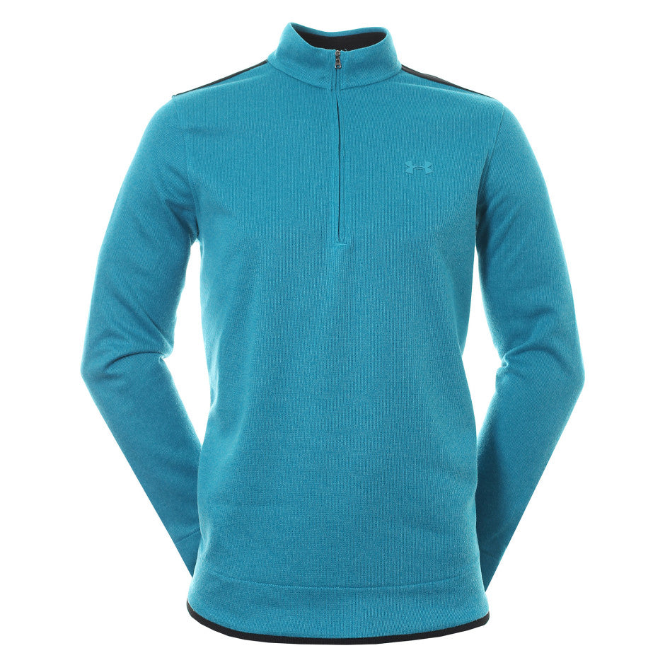 under Armour Golf Sweater Fleece 1/2 Zip - Escape/Black