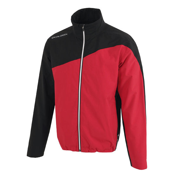 Galvin Green Aaron Waterproof Golf Jacket - Red/Black/White