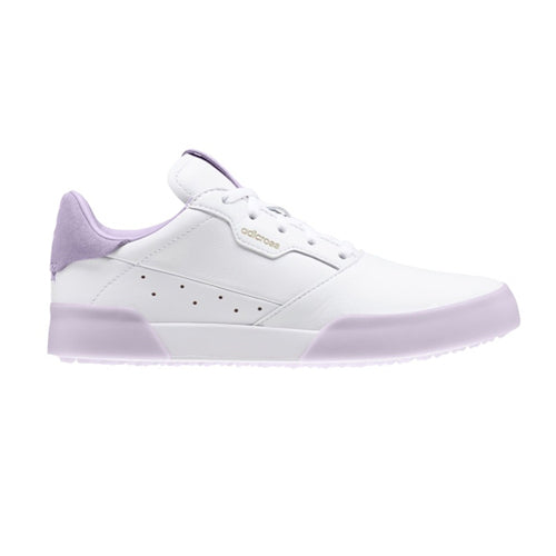 Adidas AdiCross Retro Junior Golf Shoes - White/Purple