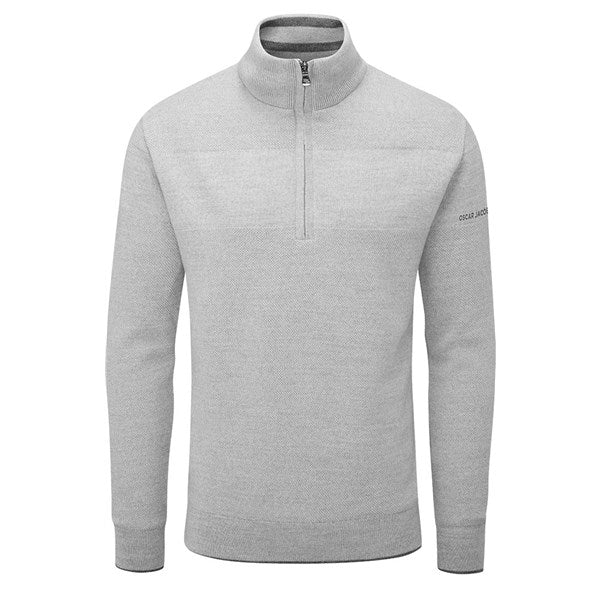 Oscar Jacobson Anders Golf Sweater - Grey