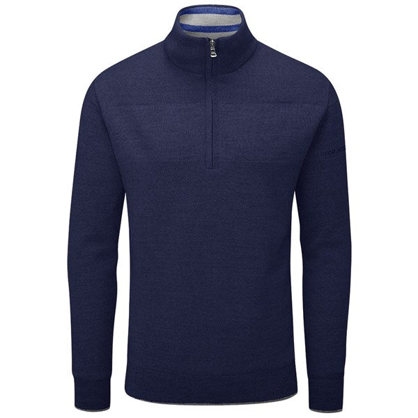 Oscar Jacobson Anders Golf Sweater - Navy