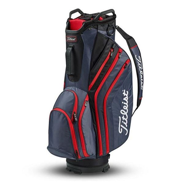 Titleist Cart 14 Lightweight Golf Cart Bag - Charcoal/Black/Red