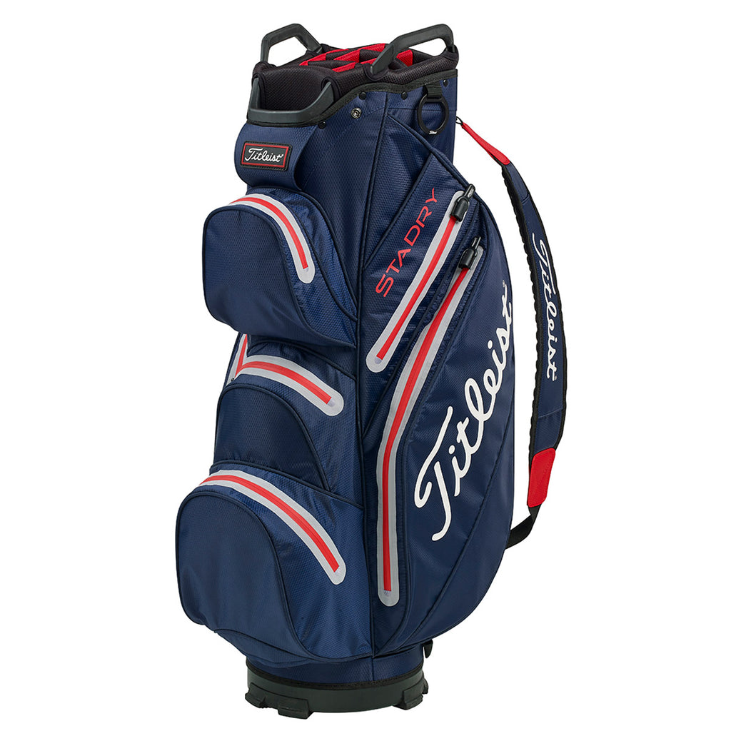 Titleist Stadry '19 Golf Cart Bag - Navy/Sleet/Red