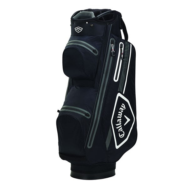 Callaway Chev Dry 14 Golf Cart Bag - Black/White/Charcoal