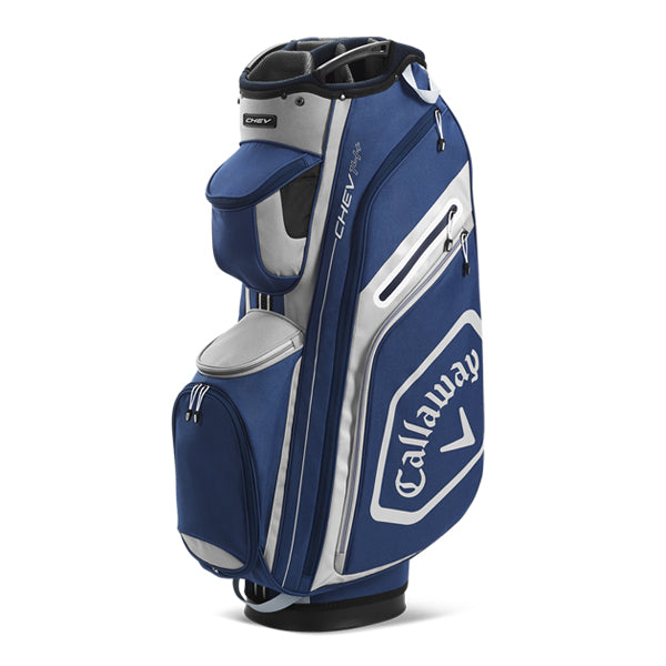 Callaway Chev 14+ Golf Cart Bag - Navy/Silver