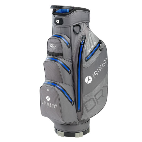Motocaddy Dry-Series Golf Cart Bag - Charcoal/Blue