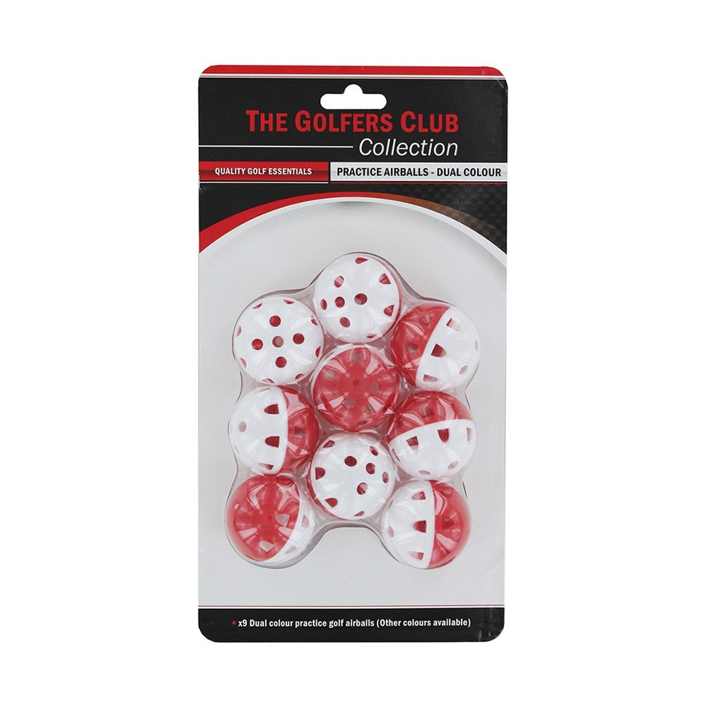 The Golfers Club Airflow Practice Golf Balls - White/Red