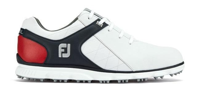 Footjoy Pro SL - White/Navy/Red Golf Shoes