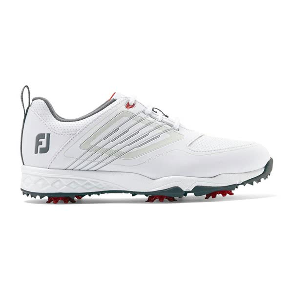 Footjoy Fury Junior Golf Shoes - White/Red