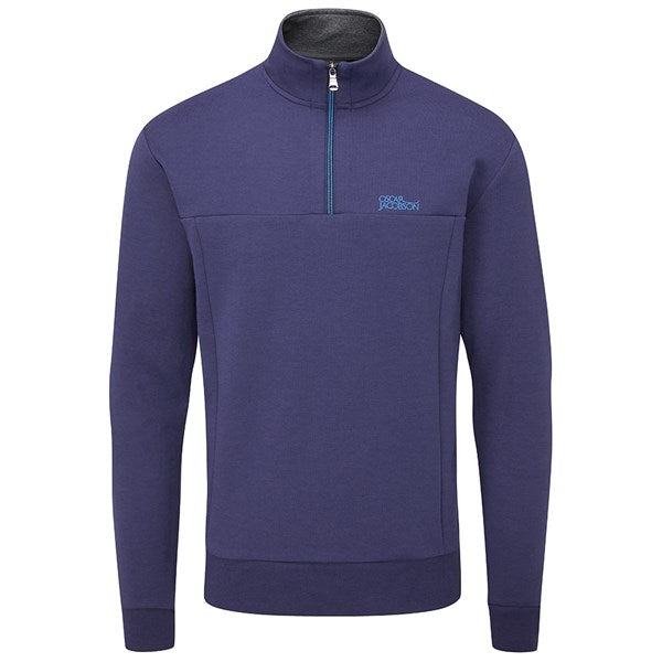 Oscar Jacobson Hawkes Golf Sweater - Navy