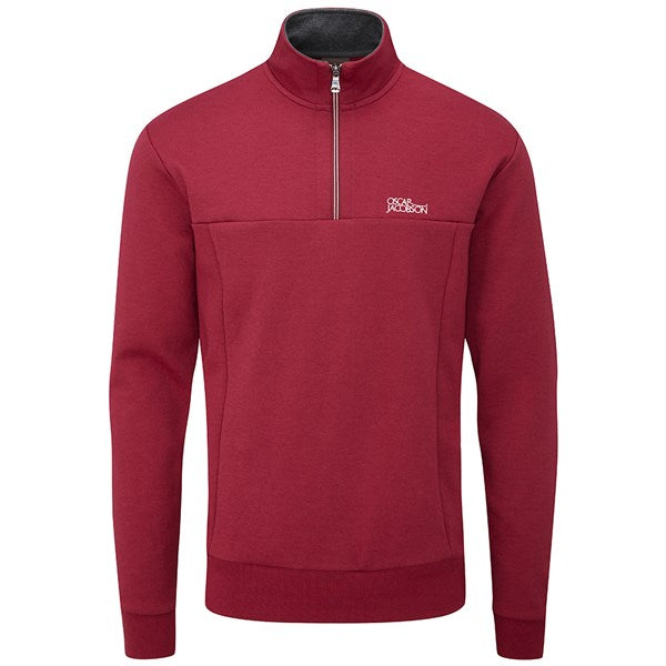 Oscar Jacobson Hawkes Golf Sweater - Red