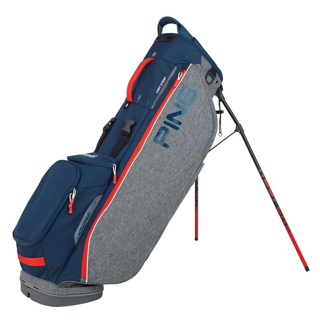 Ping Hoofer Lite '20 Golf Stand Bag - Navy/Grey/Red