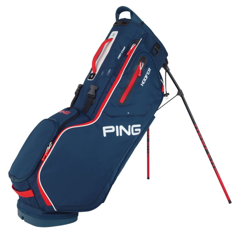 Ping Hoofer '20 Golf Stand Bag - Navy/Red