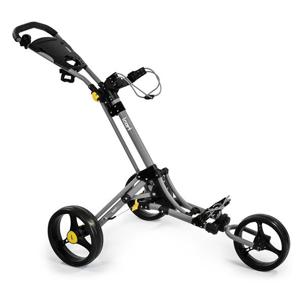 iCart Go 3-Wheel Golf Push Trolley - Grey/Black