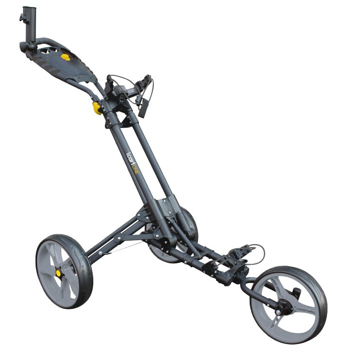 iCart One Golf Push Trolley - Black/Grey