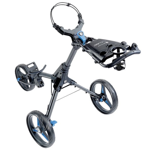 Motocaddy Cube Push Golf Trolley - Graphite/Blue