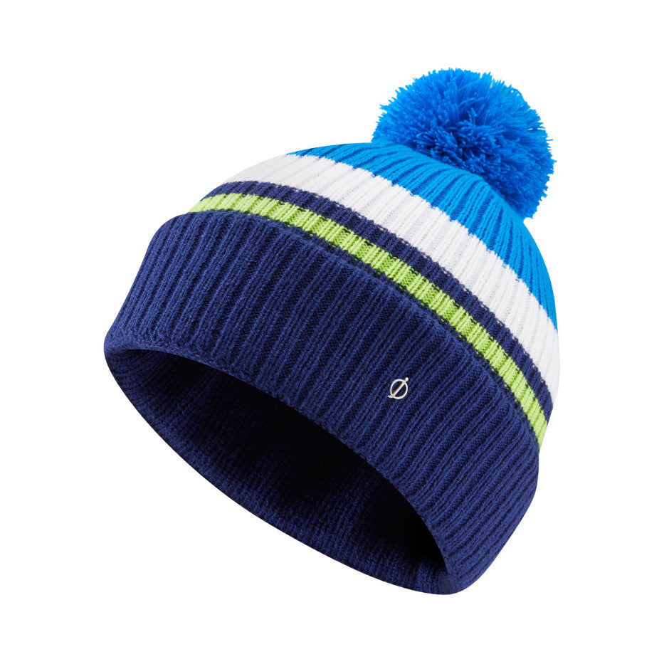 Oscar Jacobson Mason Golf Bobble Hat - Navy/Royal