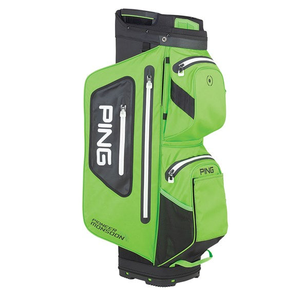 Ping Pioneer Monsoon Golf Cart Bag - Electric Green