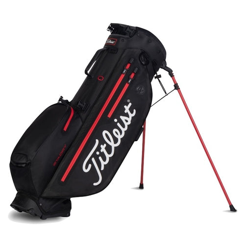 Titleist Players 4+ Stadry Golf Stand Bag - Black/Black/Red