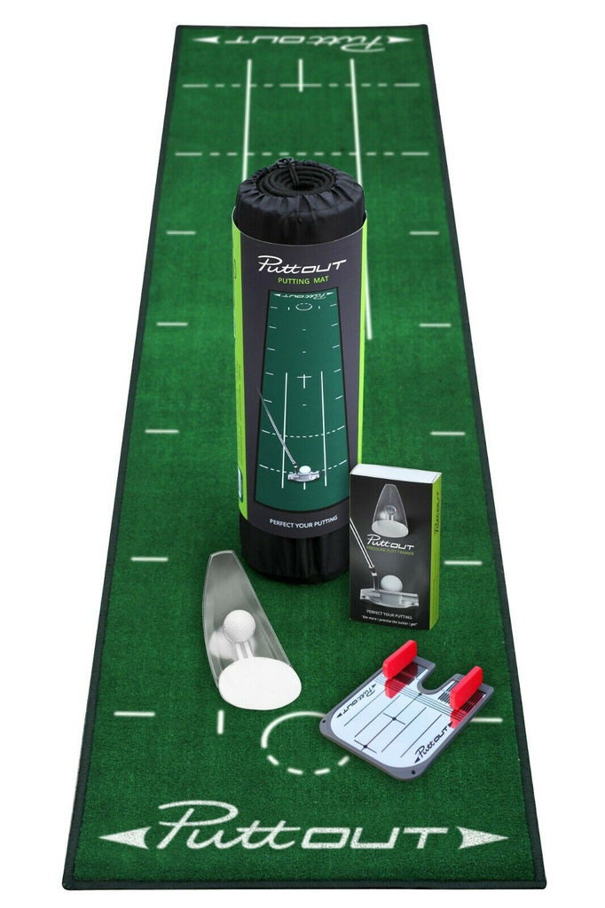 Putt-Out Complete Studio Practice Putting Golf Mat