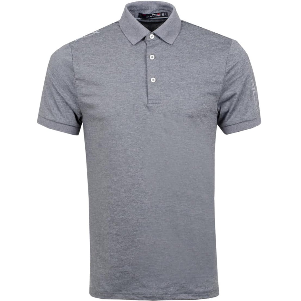 RLX Golf Solid Airflow Golf T-Shirt - Grey
