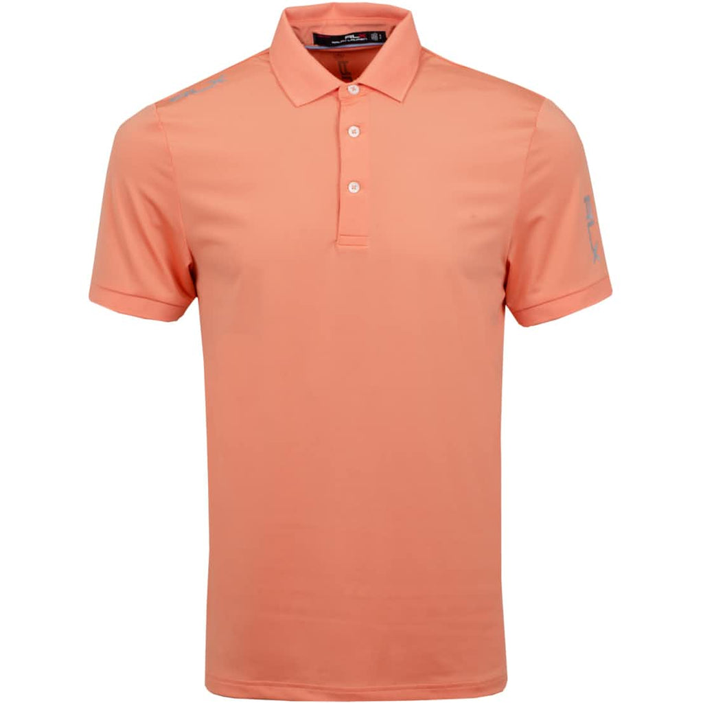 RLX Golf Solid Airflow Golf T-Shirt - Peach