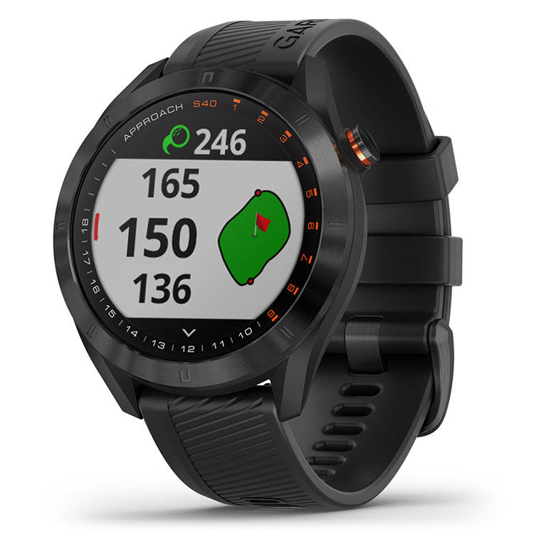 Garmin Approach S40 Premium GPS Golf Watch - Black