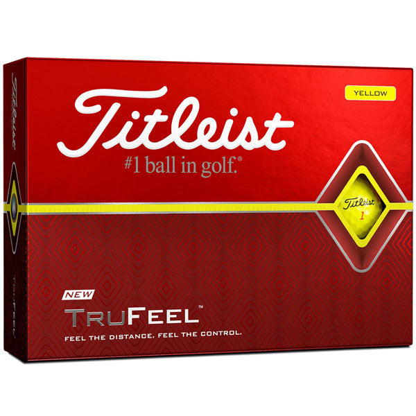 Titleist Trufeel Yellow Golf Balls Front