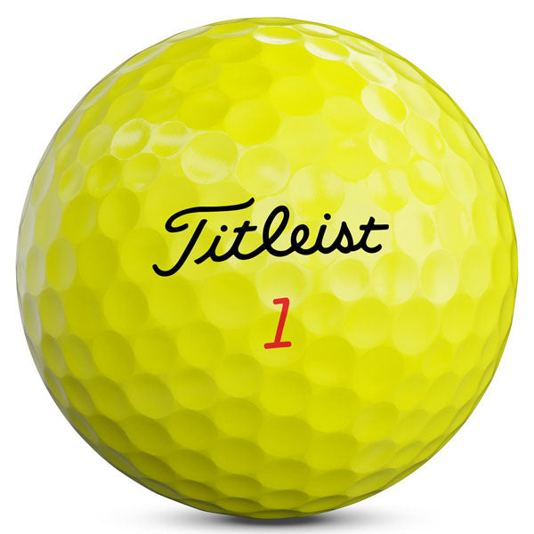 Titleist Trufeel Yellow Golf Ball Front