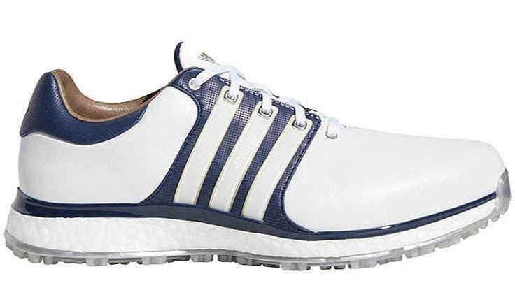 Adidas Tour 360 XT SL Golf Shoes - White/Navy/Gold - Right