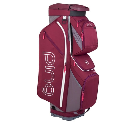 Ping Traverse 2019 Golf Cart Bag - Garnet/Heather